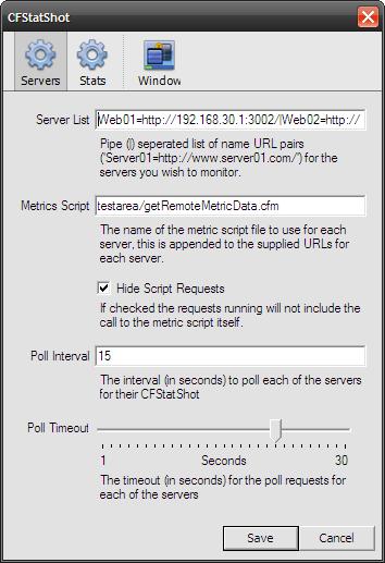 CFStatShot configuration screen