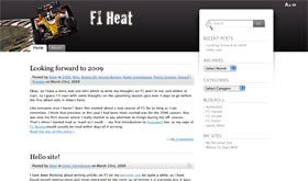 Screenshot of my new F1-focused site F1heat.com