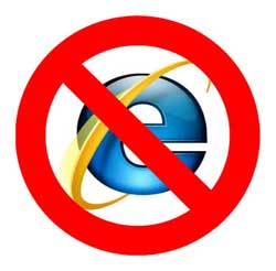 No IE for You!